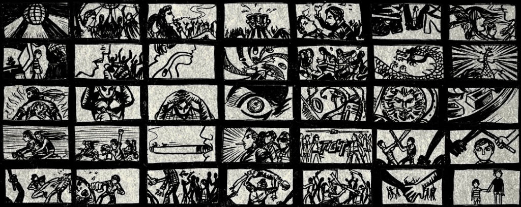 The Days title sequence storyboard